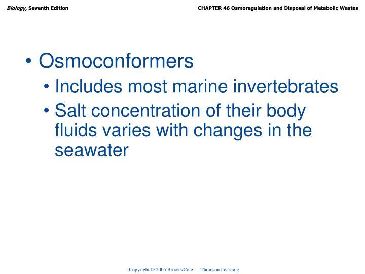 Osmoconformers