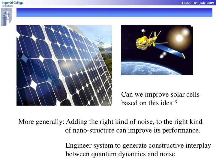 Can we improve solar cells