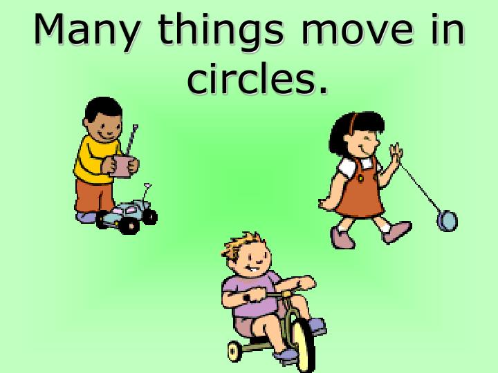 Many things move in circles.