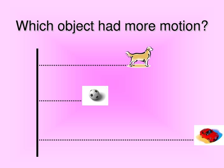 Which object had more motion?