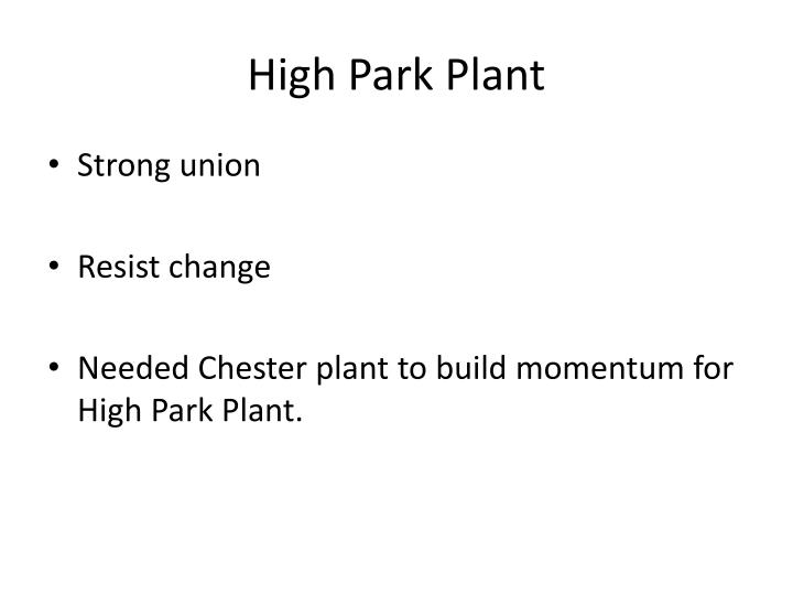 High Park Plant
