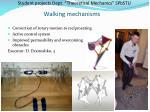 walking mechanisms