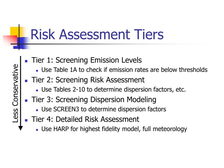 Risk Assessment Tiers