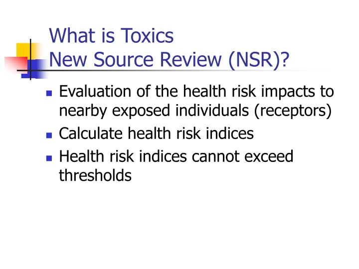 What is Toxics