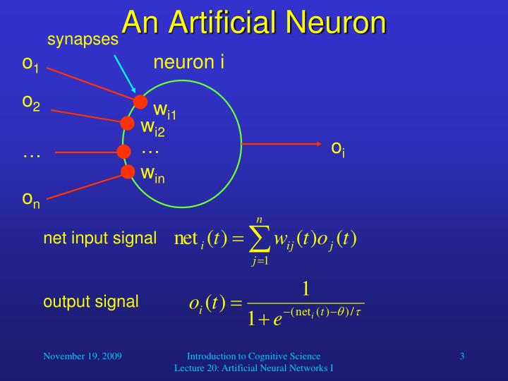 An artificial neuron
