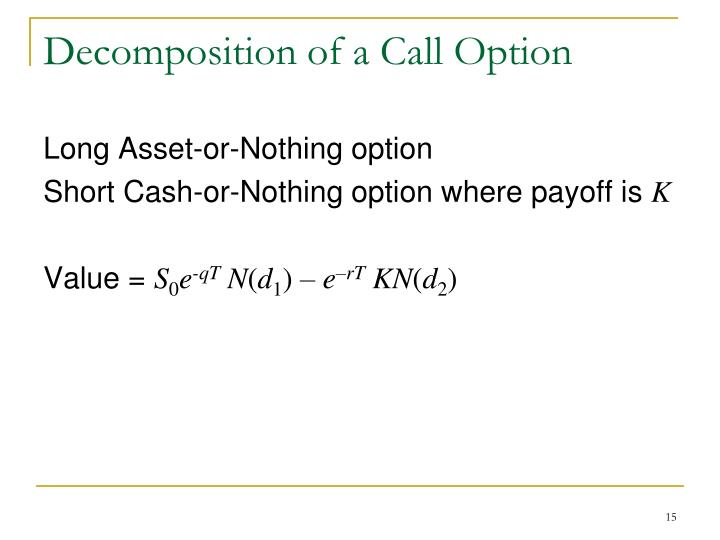 Decomposition of a Call Option