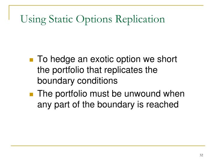 Using Static Options Replication