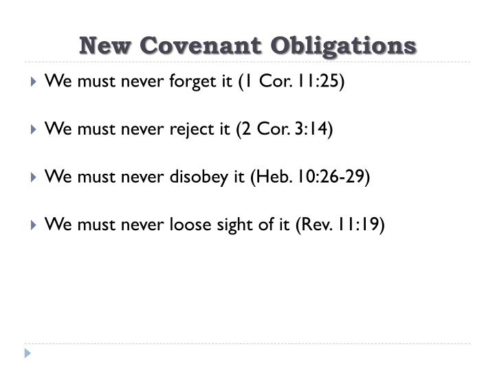 New Covenant Obligations