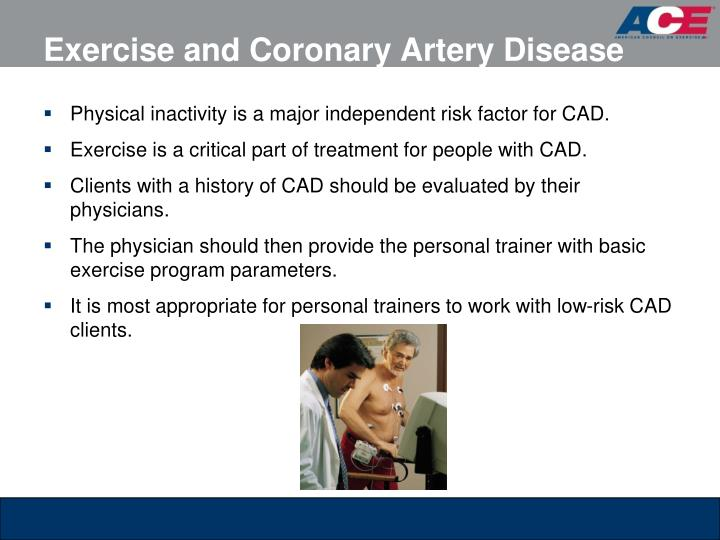 Exercise and Coronary Artery Disease