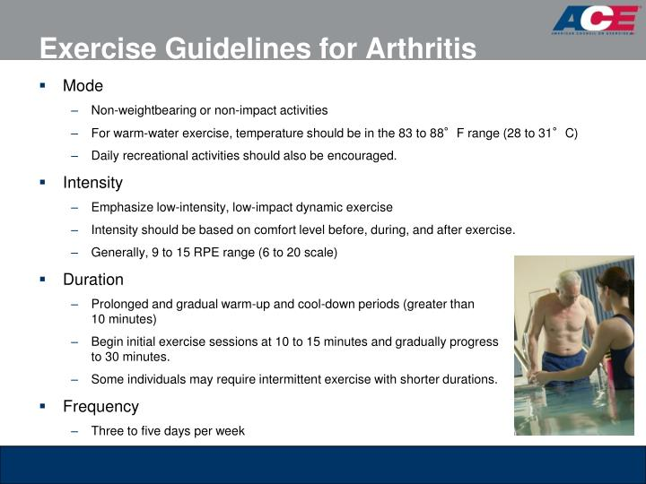 Exercise Guidelines for Arthritis