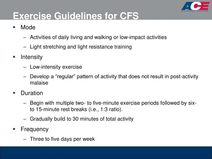 Exercise Guidelines for CFS