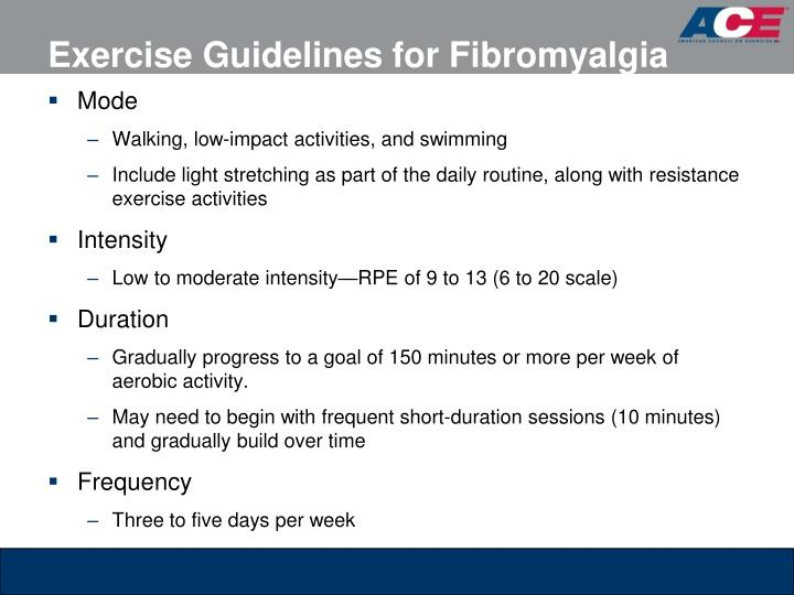 Exercise Guidelines for Fibromyalgia