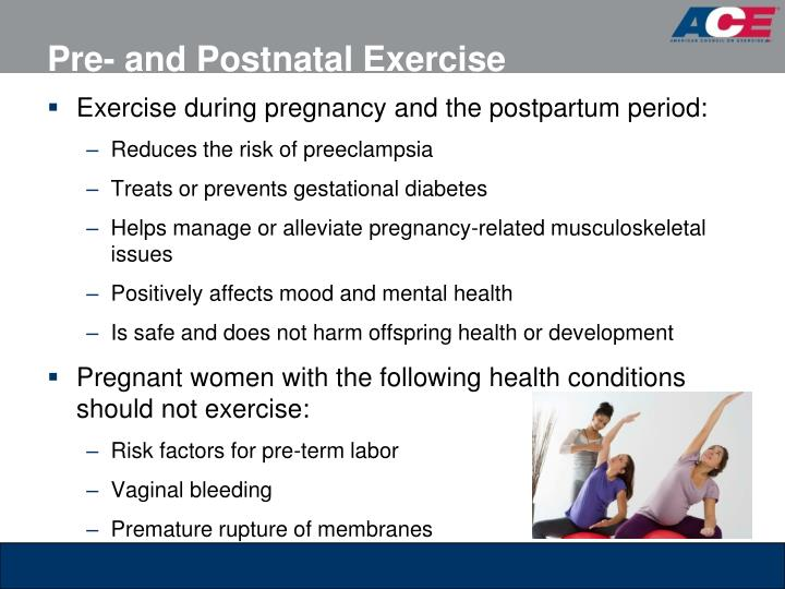 Pre- and Postnatal Exercise