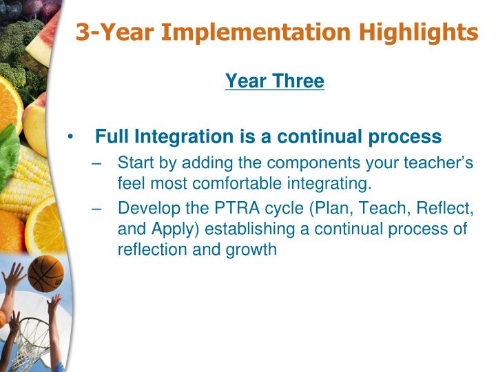 3-Year Implementation Highlights