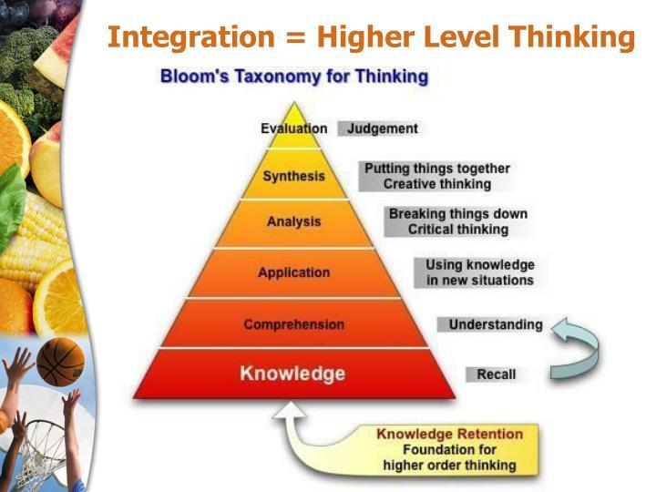 Integration = Higher Level Thinking