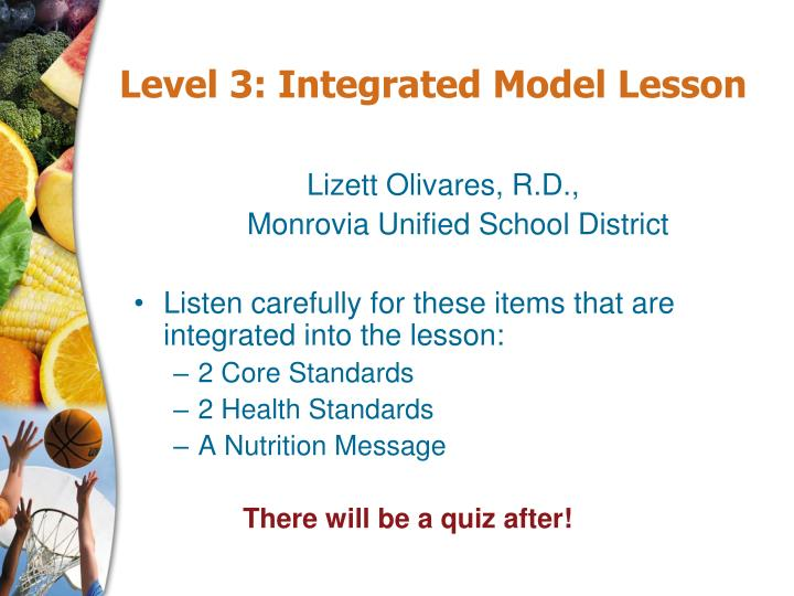 Level 3: Integrated Model Lesson