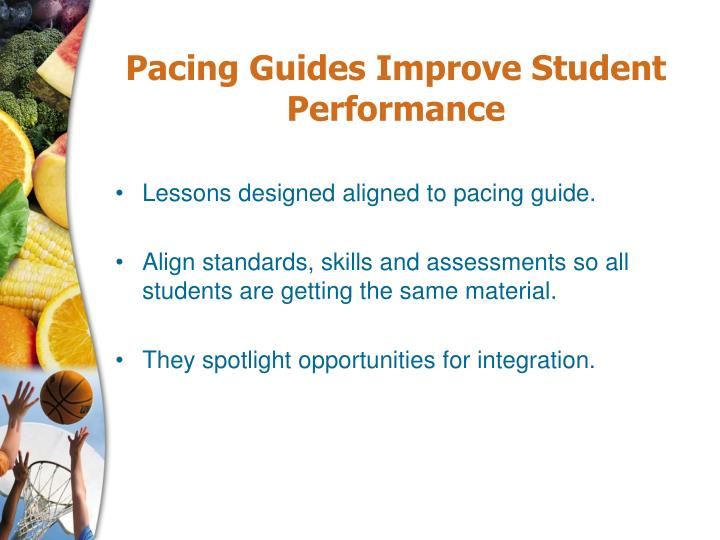 Pacing Guides Improve Student Performance