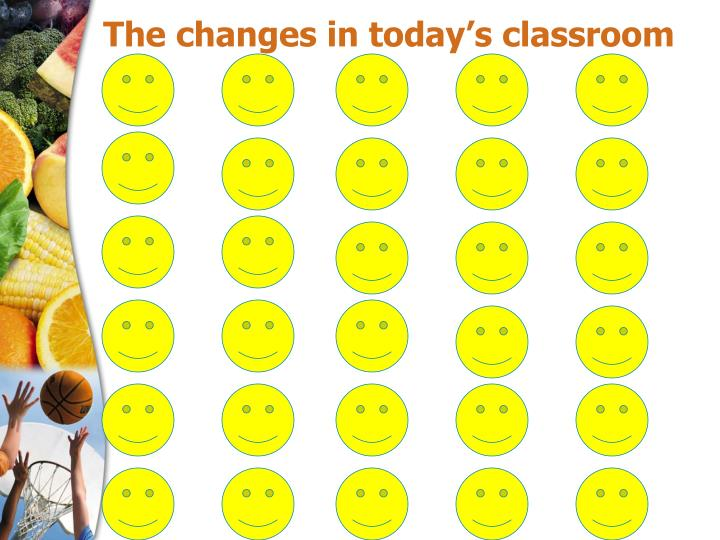 The changes in today s classroom