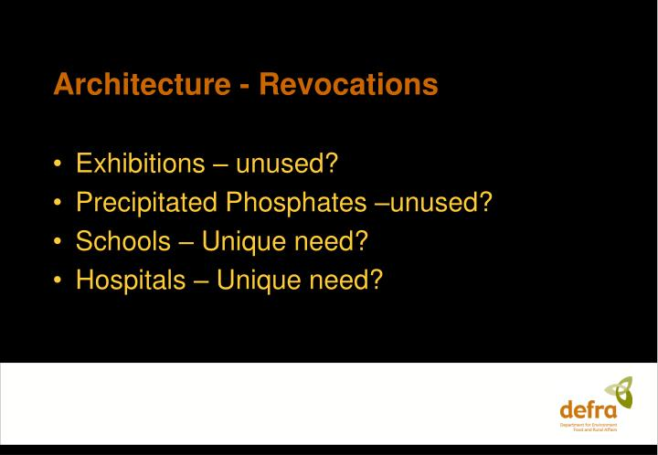 Architecture - Revocations