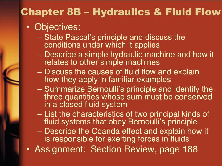 Chapter 8B – Hydraulics & Fluid Flow