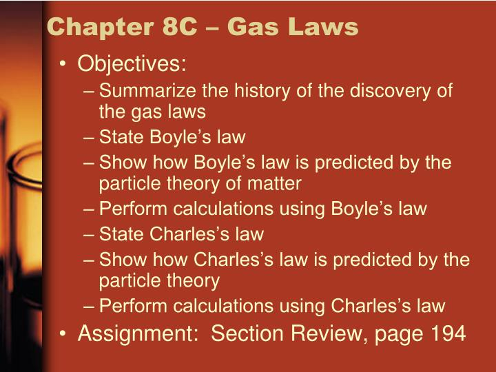 Chapter 8C – Gas Laws
