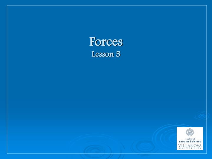 Forces lesson 5