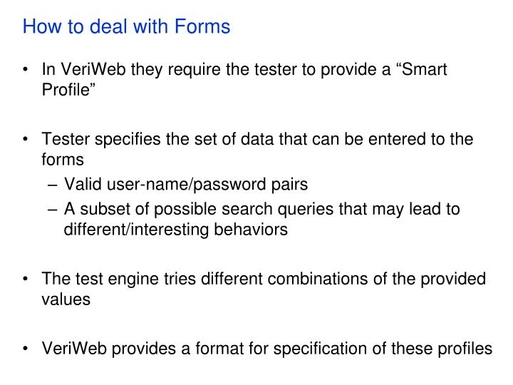 How to deal with Forms