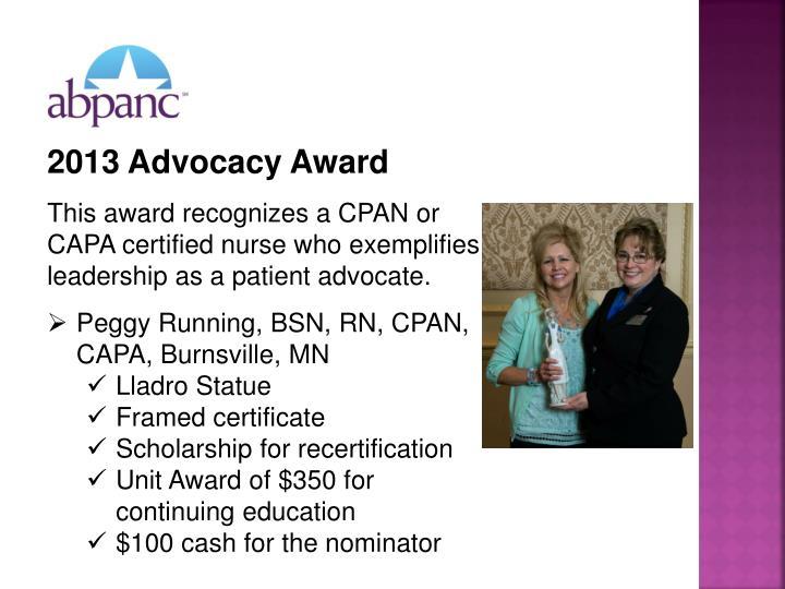 2013 Advocacy