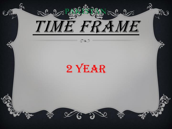 Pakistan time frame
