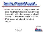 reduction of backdraft potential reasons for fireground ventilation