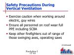 safety precautions during vertical ventilation3