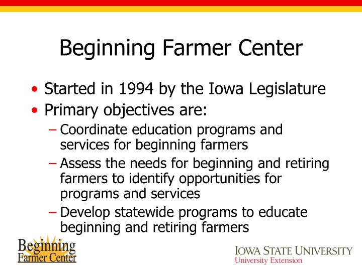 Beginning Farmer Center