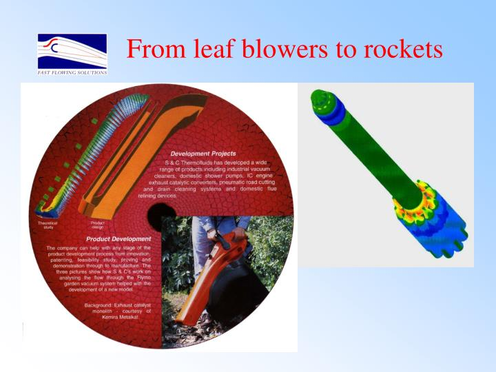 From leaf blowers to rockets
