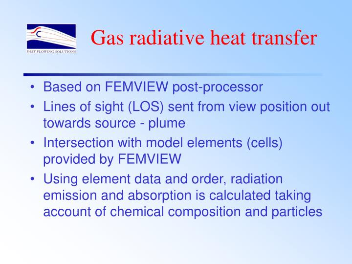 Gas radiative heat transfer