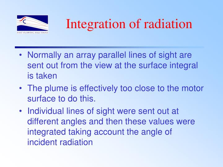 Integration of radiation