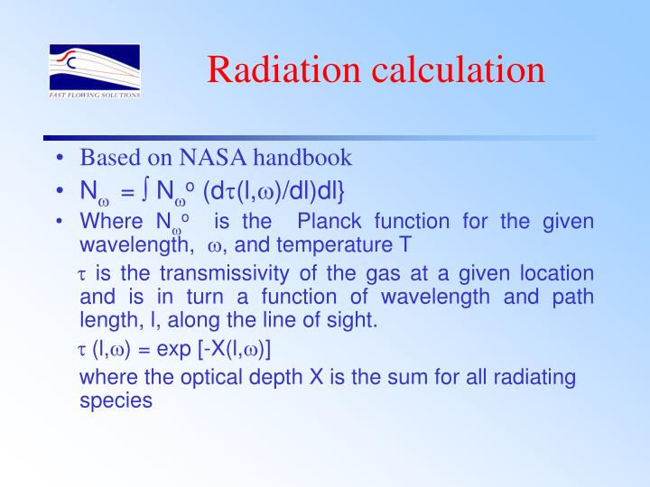Radiation calculation