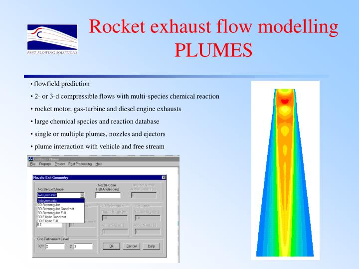 Rocket exhaust flow modelling