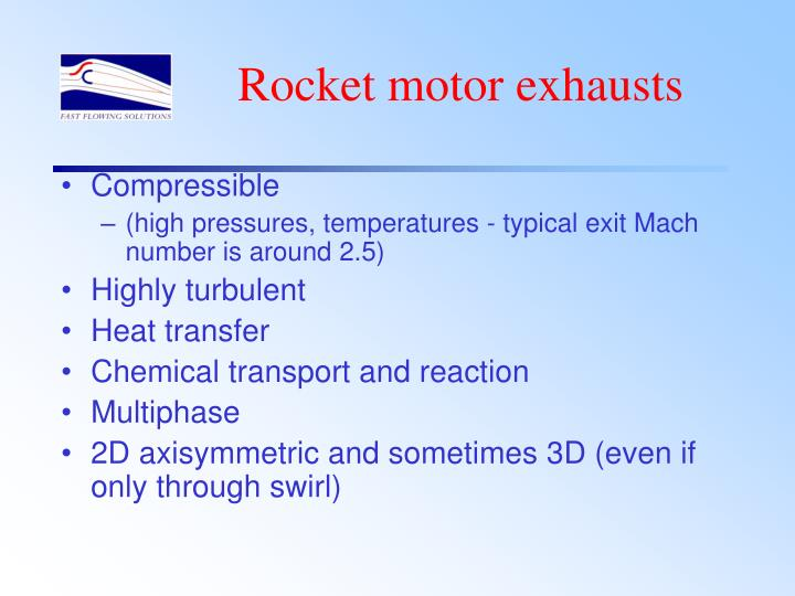 Rocket motor exhausts
