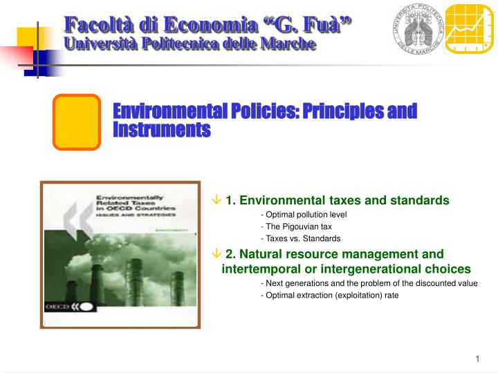Environmental policies principles and instruments