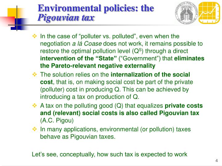 Environmental policies: the