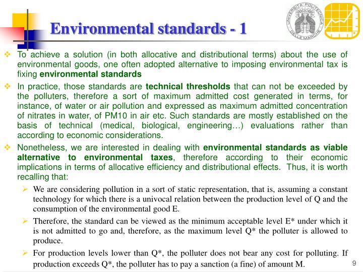 Environmental standards - 1