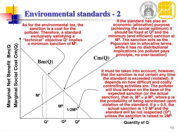 Environmental standards - 2