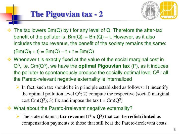 The Pigouvian tax - 2