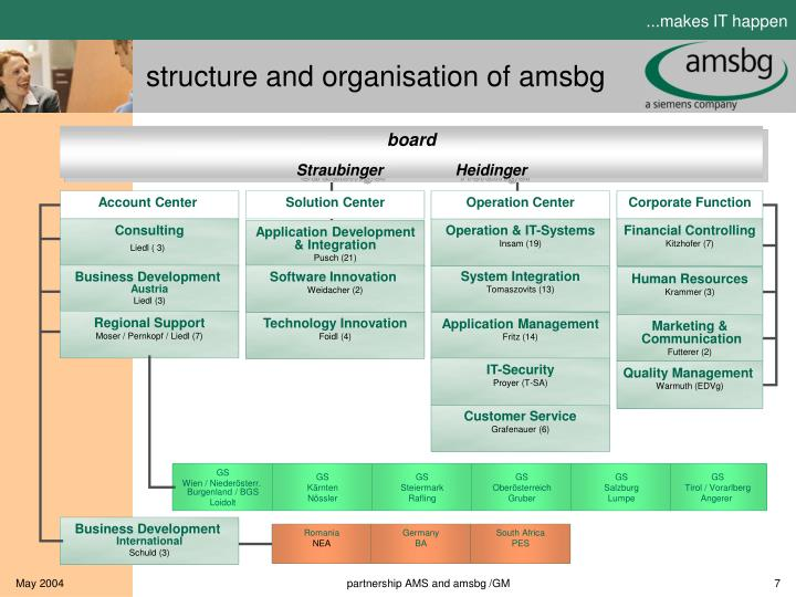 structure and organisation of amsbg