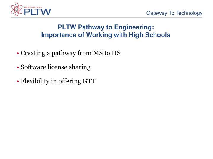 PLTW Pathway to Engineering: