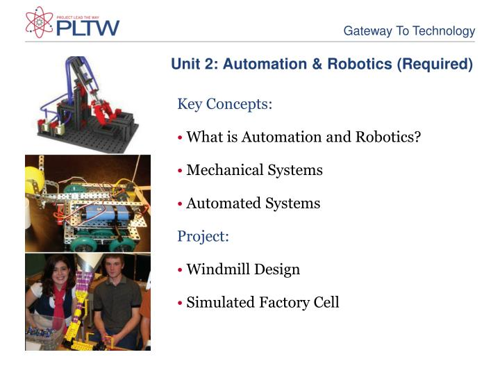 Unit 2: Automation & Robotics (Required)