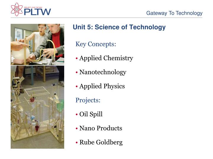 Unit 5: Science of Technology