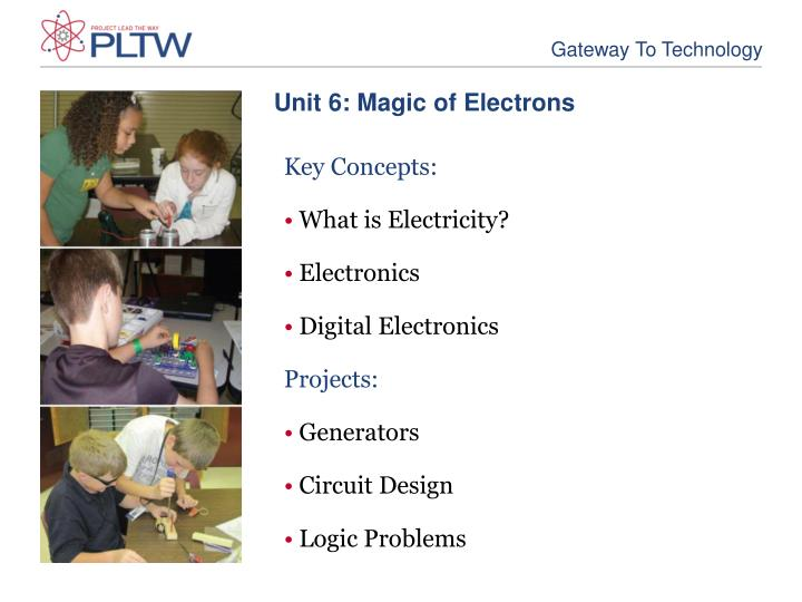 Unit 6: Magic of Electrons