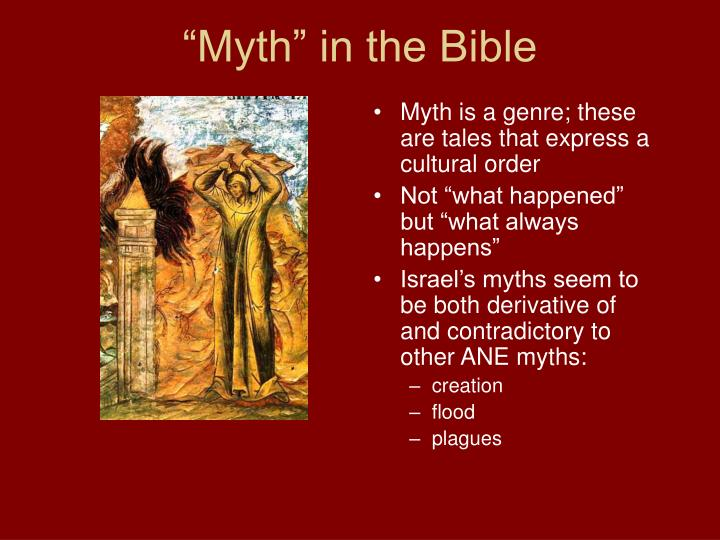 """Myth"" in the Bible"