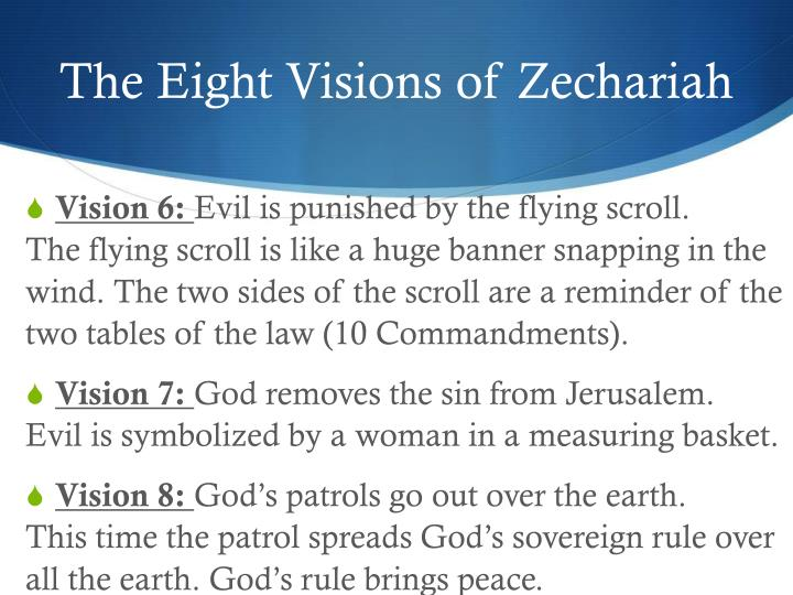 The Eight Visions of Zechariah